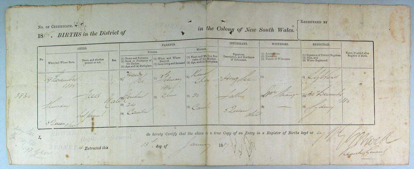 sydney birth records - photo#6