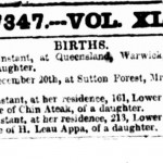 Two Lower George Street babies, 1861