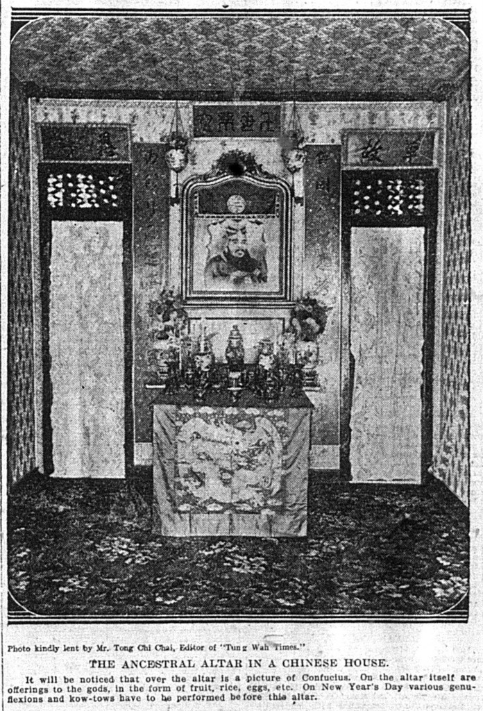 'The ancestral altar in a Chinese house', Daily Telegraph, 5 February 1910, p. 15