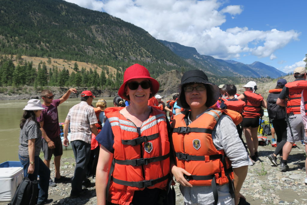 Me and Selia Tan at Lytton BC at the end of our Fraser River rafting adventure to Browning's Flat, 10 July 2016