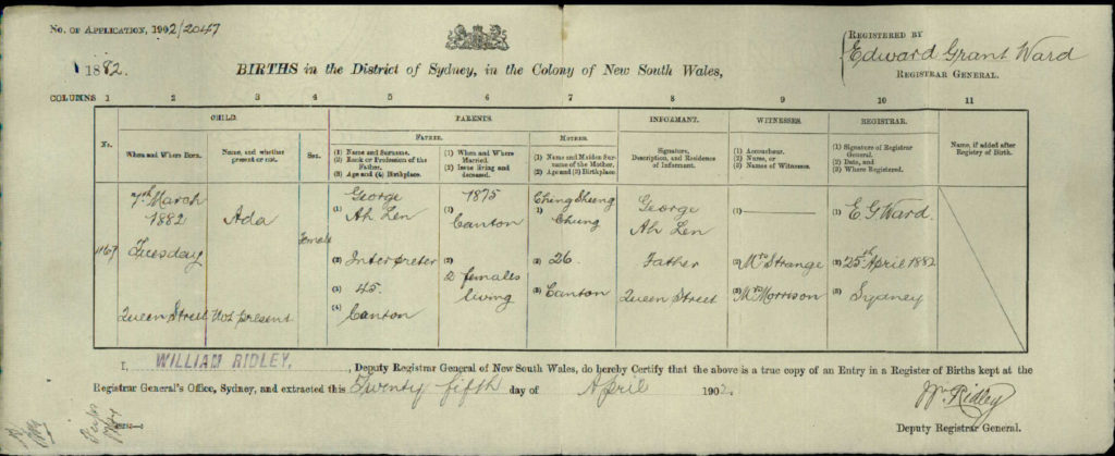 sydney birth records - photo#8